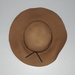 NWT Forever 21 Brown Felt Floppy Hat w/ Brown Bow